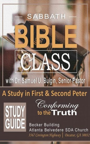 Sabbath Bible Class - Study Guide - 1st Peter